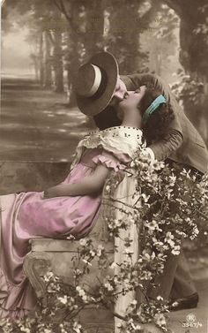Beautiful Hand Tinted Postcard c.1920