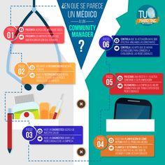 En qué se parece un Community Manager a un médico #infografia #socialmedia