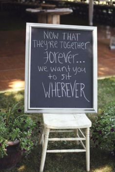 Alternatives To 'Pick A Seat Not A Side' Signs At WeddingCeremonies