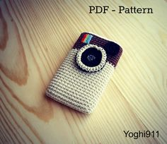 PDF Pattern  Instagram cell phone cozy by yoghi911 on Etsy, $3.50
