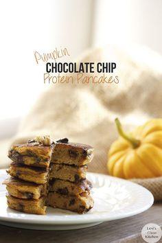 Pumpkin Chocolate Chip Protein Pancakes (Gluten Free)