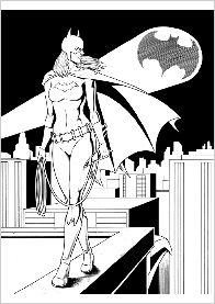 batgirl coloring pages 5