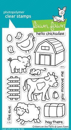 Tarjeta con los sellos critter on the farm