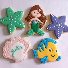 The Little Mermaid By Vanilla Art Cookies