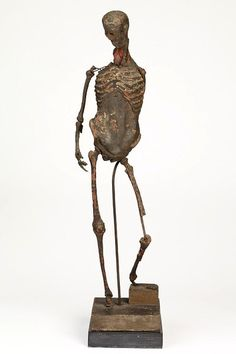 ca. 1550-1600, [Florentine-made anatomical figure, wax on copper wire. Formerly ascribed to Michelangelo as a study for the 'Bacchus', it's probably a sculptor's model rather than an instructional figure]  via the Victoria & Albert Museum, Sculpture Collection