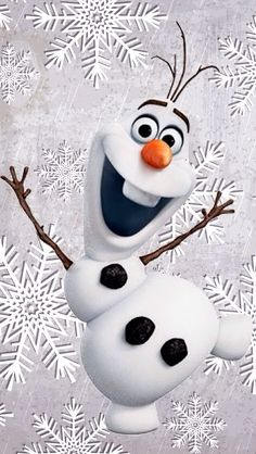 WINTER / CHRISTMAS OLAF, IPHONE WALLPAPER BACKGROUND