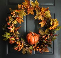 Hey, I found this really awesome Etsy listing at https://www.etsy.com/listing/198177424/autumn-harvest-wreath-pumpkin-wreath