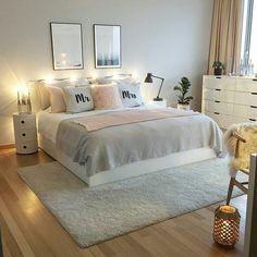 Ikea bett, ikea bedroom, home bedroom, bedroom wall, bedroom decor on a b. Dream Rooms, Dream Bedroom, Home Bedroom, Bedroom Wall, Budget Bedroom, Bedroom Furniture, Pink Bedrooms, Master Bedrooms, New Room