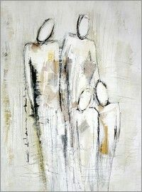 : 10442162 famille abstracto acrilico famille as a canvas print 10442162 Art Actuel, Family Painting, People Art, Figure Painting, Figure Drawing, Figurative Art, Oeuvre D'art, Art Images, Collage Art