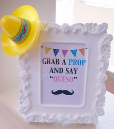 Photo prop sign for fiesta party