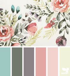 70 Best ideas for bedroom colors ideas grey design seeds Design Seeds, Colour Pallette, Color Combos, Spring Color Palette, Palette Art, Pantone, Color Swatches, Vintage Colors, Vintage Pink