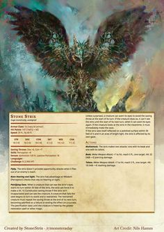 DnD Homebrew — Monsters by Stonestrix Dnd Dragons, Dungeons And Dragons 5e, Dungeons And Dragons Homebrew, Mythological Creatures, Fantasy Creatures, Mythical Creatures, Dnd Stats, Dnd 5e Homebrew, Dnd Monsters