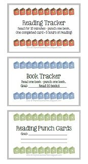 My Homeschool Tale: Reading Punch Cards A great way to track your children's reading or encourage them to read more!