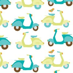 Monaluna Orcanic Monaco Scooters in Teal Textures Patterns, Print Patterns, Teal Fabric, Baby Fabric, Boys Wallpaper, Kids Prints, Fabulous Fabrics, Quilting Projects, Tejidos