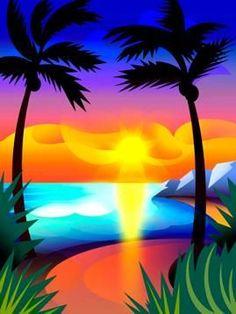 palm tree + beach