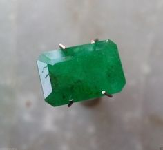 4.04 Ct Certified Natural Green Emerald Zambia Octagon Rectangle Emerald Shape Lustrous Faceted Excellent Cut Loose Gemstone at cheap Price by bilalGems8 on Etsy