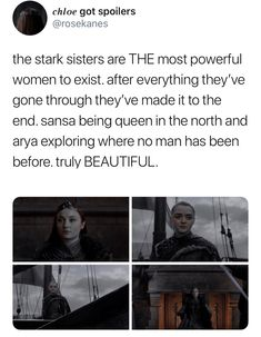 Stark sisters are doing it for themselves. Game of Thrones Game Of Thrones Quotes, Game Of Thrones Funny, A Dance With Dragons, Mother Of Dragons, Valar Dohaeris, Valar Morghulis, Movie Spoiler, The North Remembers, Fire Book