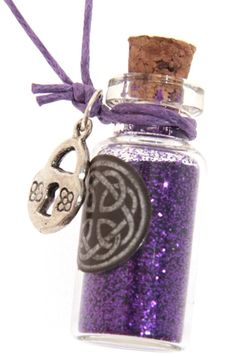 Witches Spell Magic Dust Protection Pendant
