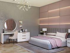 Master bedroom on Behance Room Design Bedroom, Girl Bedroom Designs, Room Ideas Bedroom, Home Room Design, Home Decor Bedroom, Home Interior Design, Master Bedroom, Stylish Bedroom, Modern Bedroom