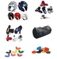 Case 7 pc NEW Kids Adult Karate Sparring Gear Set Head Foot Hand Pads Mouth