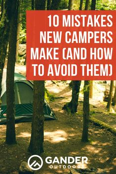 Whether you're a new camper or have taken a few trips, read up on these 10 camping mistakes so you can look (and feel) like a pro on your next camping trip! Camping Games, Camping Activities, Camping Life, Camping With Kids, Camping Equipment, Tent Camping, Camping Gear, Outdoor Camping, Stealth Camping