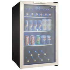 Danby DBC039A1BDB Beverage Center - loved Emily's idea of beverage fridges - so I pinned an example, but think I don't want them see through....would be mostly cans but some bottles and juice boxes