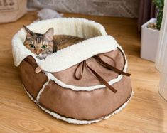 Unique Designer Pet Bed for Cats, Dogs and Pets. Modern Cat Furniture, Gift for Pet Lover, Pet Supplies, Cat Furniture, Cat Gift, Cat Cave #CatFurniture