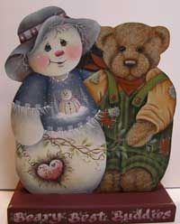 Beary Best Buddies ~  via Between the Vines! Designs by Jamie Mills-Price