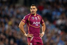 Greg Inglis of the Maroons looks on during game one of the ARL State of Origin series between the New South Wales Blues and the Queensland Maroons at ANZ Stadium on June 5, 2013 in Sydney, Australia.