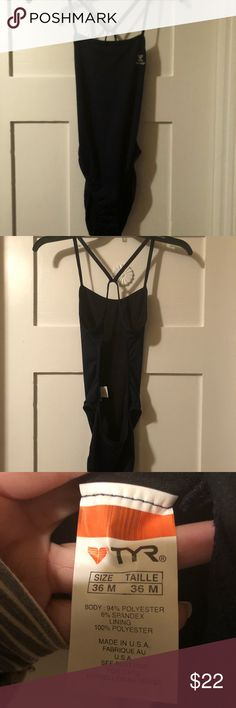 NEW TYR Thin X Competitive Suit  (no tags) 🏊🏻♀️ This is a new without tags NAVY TYR suit. It has never been worn or washed. Please see pics of the new inside tag, these tags fade and crinkle when washed (please see my used suits for comparison new/used). Great suit! Also see pics for size chart. 🌸Add item to a bundle with a free item and offer this item's asking price.🌸 TYR Swim One Pieces