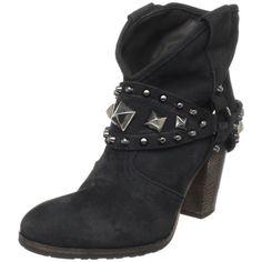 nice Yin Women's Flam Ankle Boot,London Nero,40 EU / 10 B(M) US