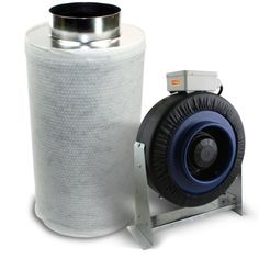 """Save $ 10 order now VenTech Hydroponic 6"""" Inline Fan and Carbon Air Filter"""