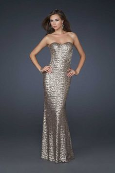Fully La Femme 17506 Fitted Silver Sheer Back Mermaid Homecoming Dresses Sale
