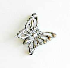 Vintage Butterfly Pin Sterling Silver Lang by retrogroovie on Etsy