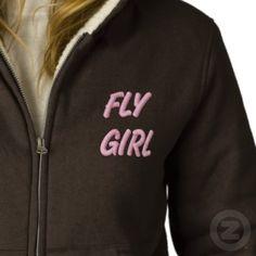 FLY GIRL FLY FISHING HOODY