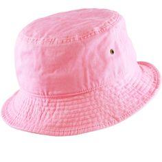 3e84e884e7630 THE HAT DEPOT 300N Unisex 100% Cotton Packable Summer Travel Bucket Hat  (S M