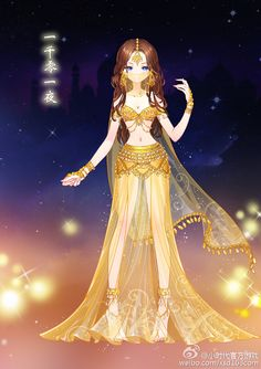 Indian style Dancer outfit