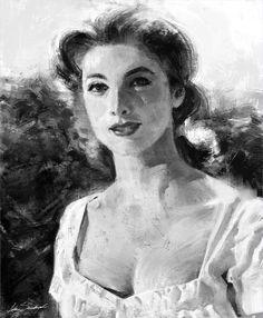 Jota Sandoval - Black & white study w/ one layer - one brush