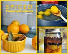 Spiced Preserved Lemons, just lemons, salt and pantry spices.