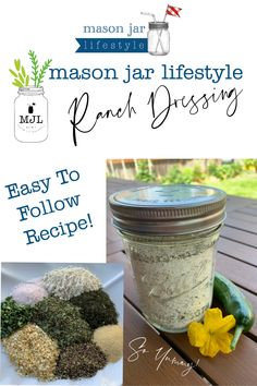 Mason Jar Mixes, Mason Jar Diy, Jar Gifts, Food Gifts, Ranch Dressing Mix, Salad Dressing, Kitchen Recipes, Jar Recipes, Diy Food