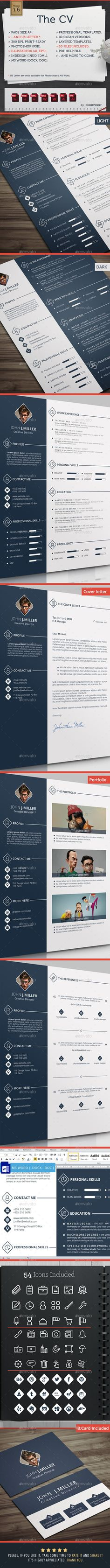 graphic design The #CV - #Resumes #Stationery Download here: https://graphicriver.net/item/the-cv/8241538?ref=alena994