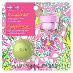 Eos Tropical Escape, Guava Lip Scrub and Pina Colada Lip Balm, Pina Colada, Eos Flavors, Tropical, Concealer, Lip Balm Brands, Lotion, Body Scrub Recipe, Lip Balm Recipes, Lush Bath Bombs