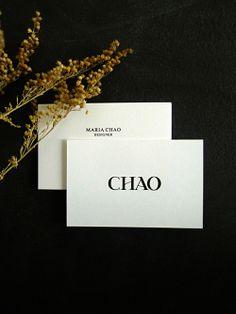 Maria Chao by Mario Lombardo - typography, print design, layout Font Design, Brand Identity Design, Graphic Design Branding, Stationery Design, Type Design, Typography Design, Layout Design, Brand Design, Web Design