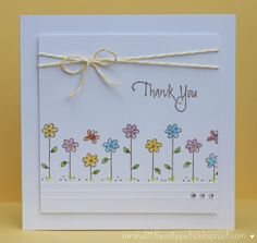 Sarahs Little Snippets Simple Thank You Card Gilly Haigh Has A MILLION Great Ideas