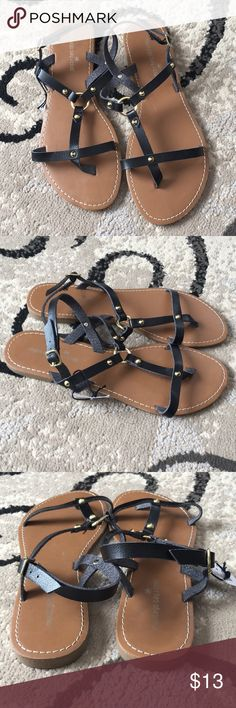 NWT Montego Bay Club Sandals Size 9 NWT Adjustable ankle straps  Gold tone accents Montego Bay Club Shoes Sandals