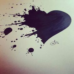 Paint splatter heart