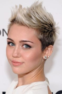Miley Cyrus Pompadour & Quiff Hairstyles