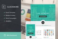 Clockwork Email Template + Builder by StampReady Templates on @creativemarket