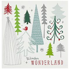 from John Lewis' Christmas card selection print & pattern