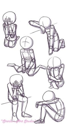 Sitting Sad Poses: Here is a quick reference page for sad sitting poses. This pi. - Sitting Sad Poses: Here is a quick reference page for sad sitting poses. This pin can be used as a - Body Drawing Tutorial, Drawing Tutorials, Art Tutorials, Painting Tutorials, Sad Drawings, Anime Drawings Sketches, Pencil Drawings, Cartoon Drawings, Cartoon Characters Sketch